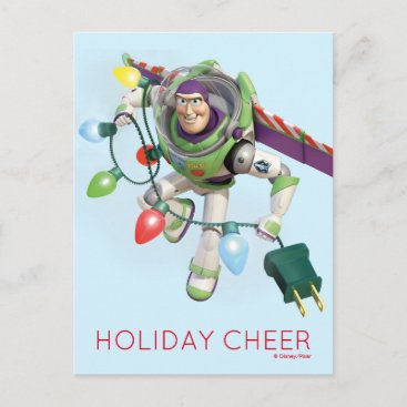 Toy Story | Buzz Lightyear Decorating Christmas Holiday Postcard