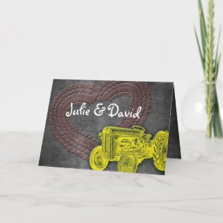 Tractor Wedding Invitation