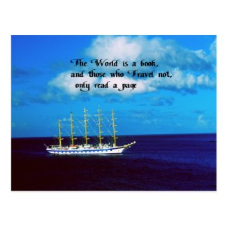 Travel the world postcards