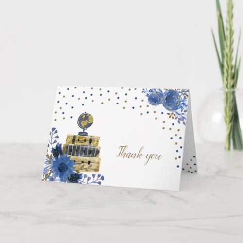 Travel themed bridal shower thank you note