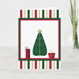Tree and gifts - Card card