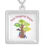 Tree Hugging Vegan Pendant Jewelry
