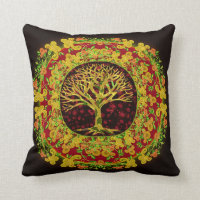 Tree of Life Constant Change Throw Pillow