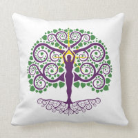 Tree of Life Cotton Throw Pillow