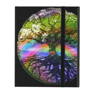 Tree of Life with Rainbow Heart iPad Case