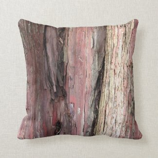 Tree Wood Bark Throw Pillow