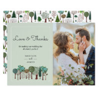 Trees Forest Woodland | Wedding | Thank you Card