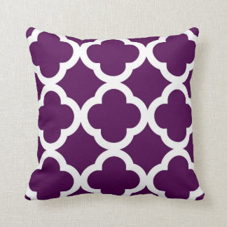 Personalized Family Name Purple Plum Toss Pillow