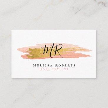 trendy hair stylist business card