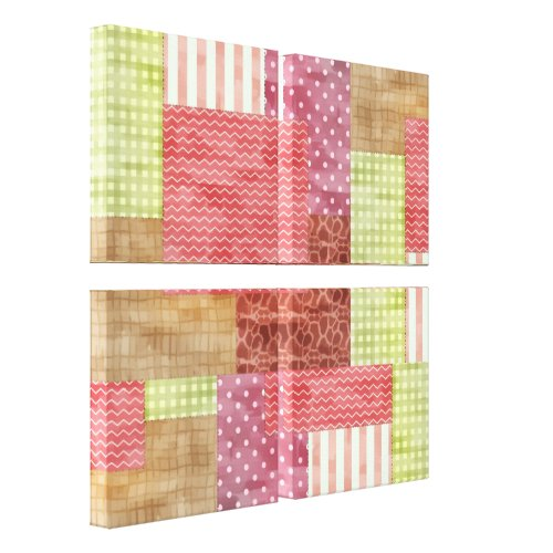 Trendy Patchwork Quilt Canvas Print