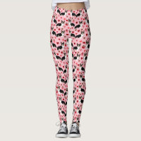 Tri corgi Valentines - love corgi dog pink Leggings