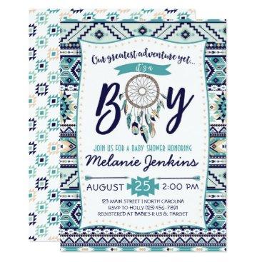 Tribal Arrows Baby Shower Invitation, It's a boy Invitation