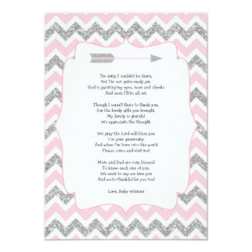 Tribal Baby shower thank you notes with poem Card