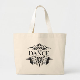 Tribal Dance (plain) Large Tote Bag
