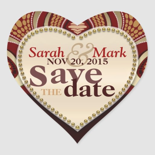 Tribal Earth Save the Date Sticker