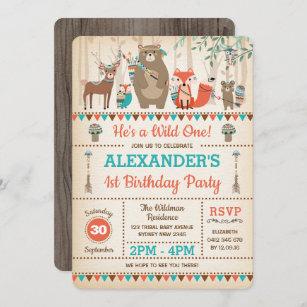 tribal 1st birthday invitations zazzle