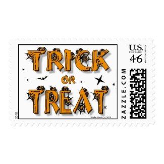 Trick or Treat Postage stamp