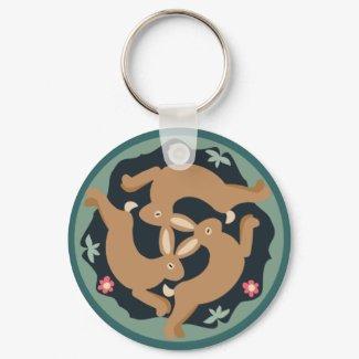 Triple Hare keychain