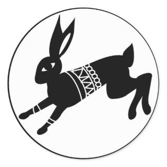 Triple Moon Hare sticker