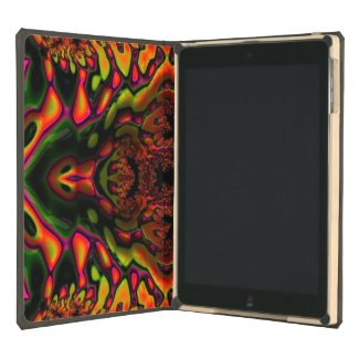 Trippy Florescent Glossy Fractal ipad Air DODOcase