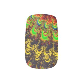 Trippy Twirls Fractal Art Minx Nail Wraps
