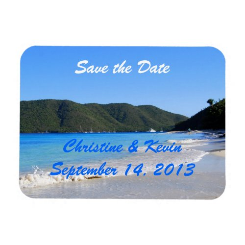 Tropical Beach Save the Date Magnet premiumfleximagnet