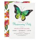 Tropical Butterfly Housewarming Party Invitation