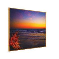 Tropical Dawn on Beach Facing out to Sea Art Canvas Prints