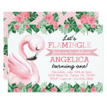 ❤️ Tropical Flamingo Birthday Party Invitation