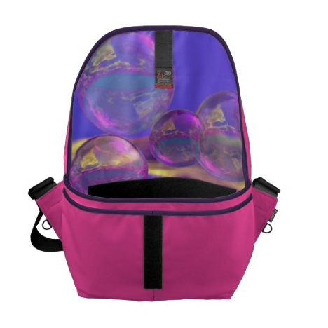 Tropical Morning – Magenta and Turquoise Paradise Messenger Bag