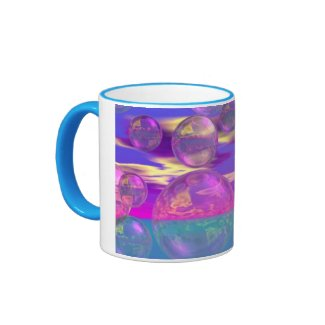 Tropical Morning – Magenta and Turquoise Paradise Mug