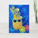 ❤️ Tropical Pineapple Humor Card