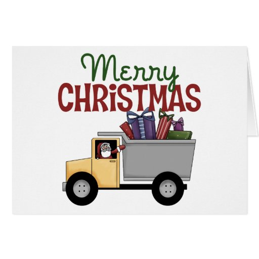 Truck Driver Christmas Card Zazzle