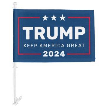Trump 2024 Keep America Great - classic design Car Flag