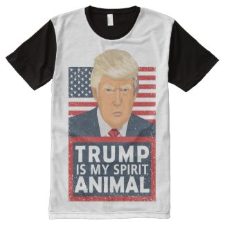 Trump is My Spirit Animal Funny All-Over-Print Shirt