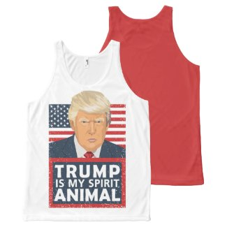 Trump is My Spirit Animal Funny All-Over-Print Tank Top
