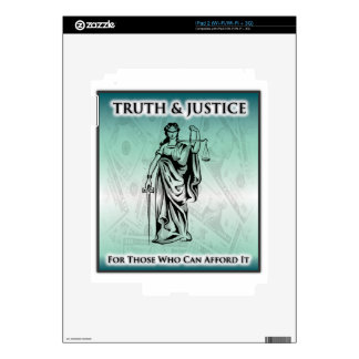 Truth & Justice - Lady Justice iPad 2 Decal