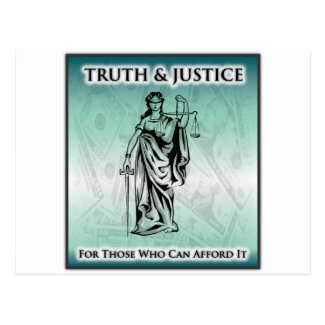 Truth & Justice - Lady Justice Postcard