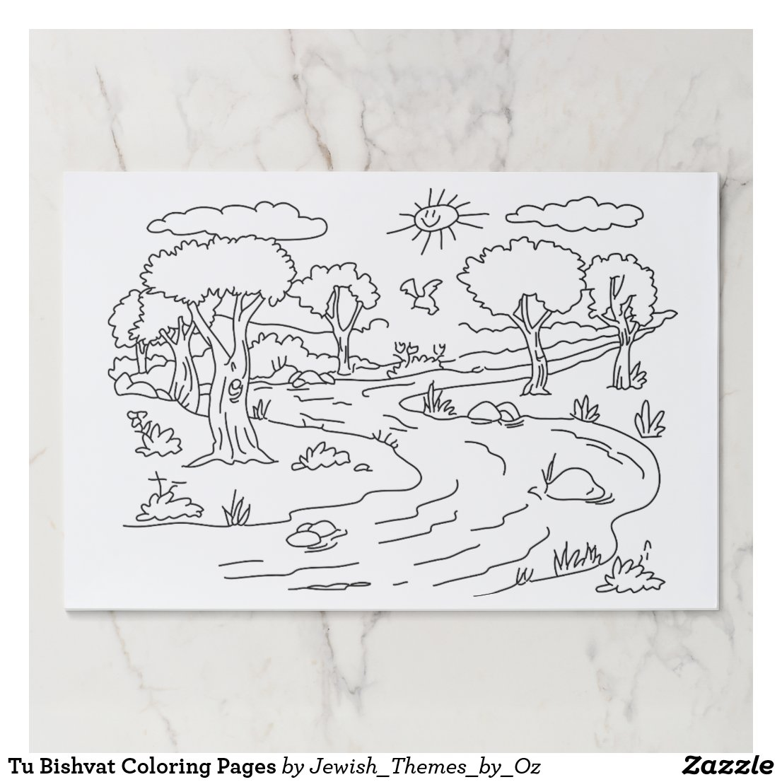 Tu Bishvat Coloring Pages Paper Placemat