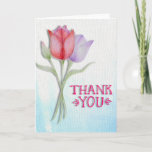 ❤️ Pretty Pink Tulip Thank You Card