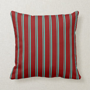 turquoise and red stripes decorative