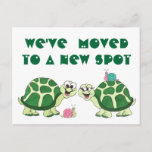 "Turtles  ""We've Moved"" - Customizable Postcard"