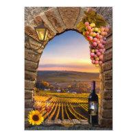 Tuscan Wine Themed Birthday Party Invitation