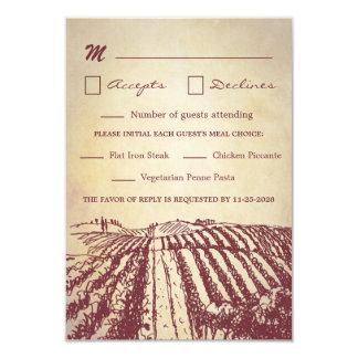 Tuscan Wine Winery Vineyard Wedding Rsvp Cards