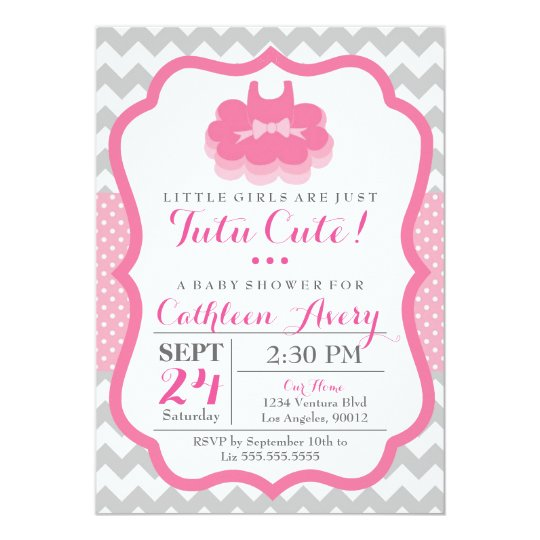 Tutu Cute Baby Shower Invitation