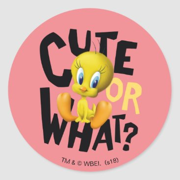 TWEETY™- Cute Or What? Classic Round Sticker
