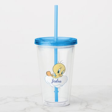 Tweety In The Clouds Pose 3 Acrylic Tumbler