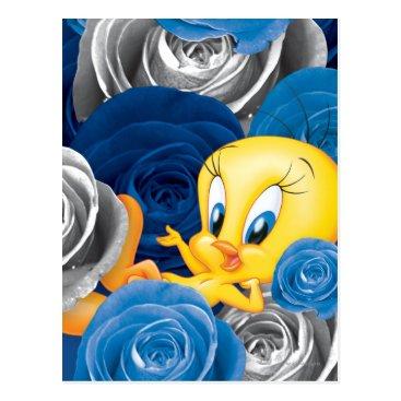 Tweety With Roses Postcard