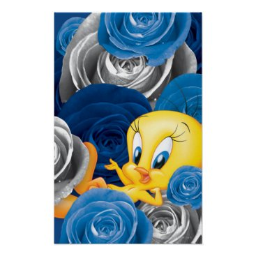 Tweety With Roses Poster