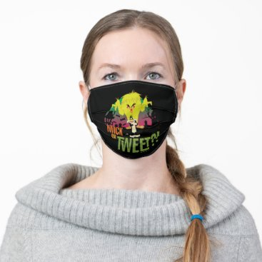 """""""Twick or Tweet"""" TWEETY™ & SYLVESTER™ Adult Cloth Face Mask"""